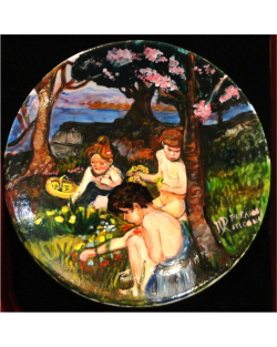 Three children in the woods