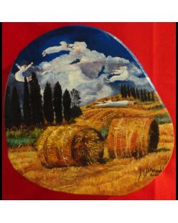 Volando per la campagna, dipinto anche lateralmente