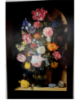Copy Art: A. Bosschaert, 1618 Bouquet of flowers in a jar, oil on canvas, 80x120 cm