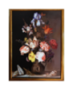 Flowers jar with insects and shells