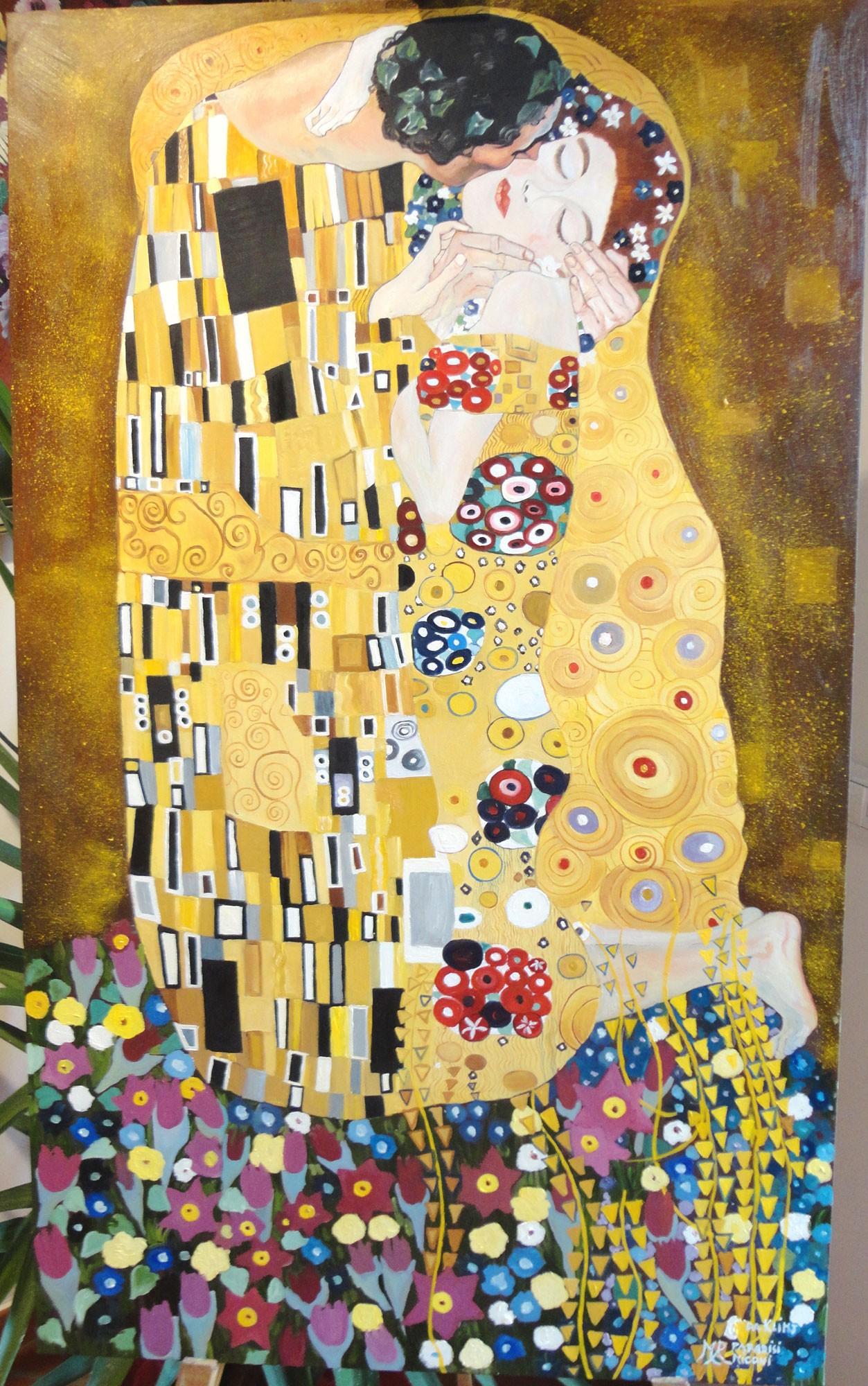 Il Bacio di Klimt - Copia d'arte di Maria Rosaria Paradisi Miconi