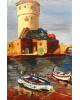 Giglio, Campese, la torre e barche