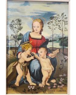 copia d'arte Madonna con Gesù e San Giovannino