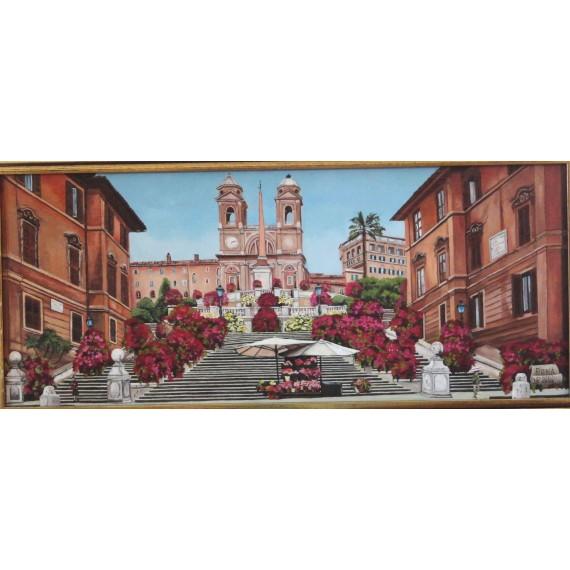 Rome, The Spanish Steps at Trinità de Monti