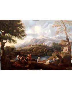 Van Bloemen Jan Frans-paesaggio campagna laziale
