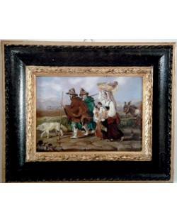 Copia d'Arte Famiglia di contadini sulla via Appia