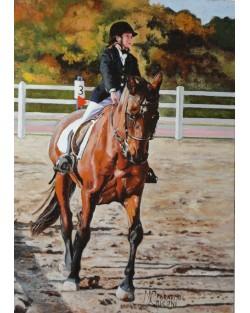 esempio di ritratto Bambina a cavallo