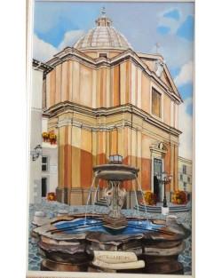 Castel Gandolfo, the papal Collegiate Church of St. Thomas of Villanova by Gian Lorenzo Bernini