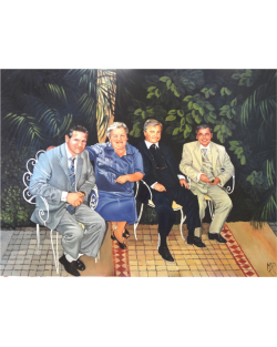 esempio di ritratto di un gruppo di famiglia